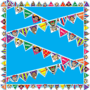 Pedagogs Display Borders - Bunting