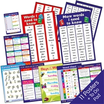 English Grammar & Punctuation Poster Value Pack (11 Posters - A2 - 620mm x 420mm)