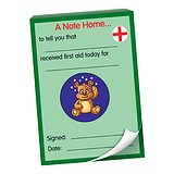 60 Page 'Received First Aid Today' A6 Note Home Praisepad