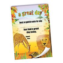 60 Page 'A Great Day' Safari Scene A6 Praisepad
