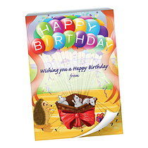 60 Page 'Happy Birthday' Mice & Balloons A6 Praisepad