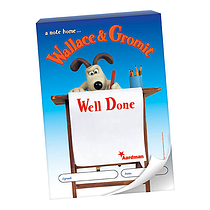 60 Page 'Well Done' Wallace & Gromit A6 Praisepad