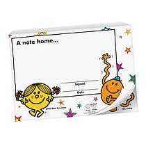 60 Page 'A Note Home' Mr Men & Little Miss A6 Praisepad