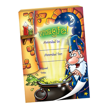 60 Page 'Magic' Wizard Scene A6 Praisepad