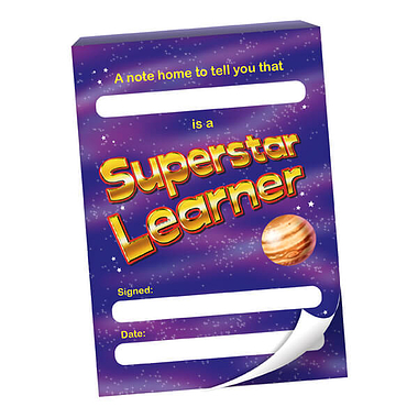 'A Note Home' Superstar Learner 60 Page A6 Praisepad