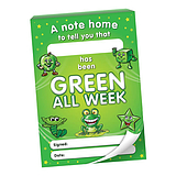 Green all Week Praisepadz - 60 Notes Home (A6)