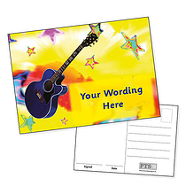 A6 Personalised Guitar Postcard