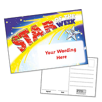 A6 Personalised Star of the Week Postcard