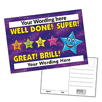 A6 Personalised Coloured Stars Postcard