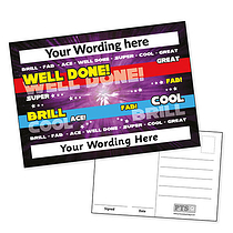 A6 Personalised Purple Positive Words Postcard