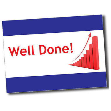 Personalised Well Done Postcard - Blue (A6)