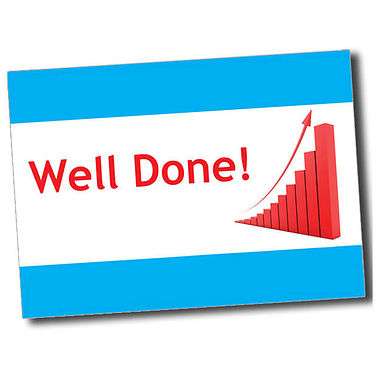 Personalised Well Done Postcard - Cyan (A6)