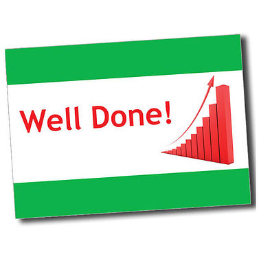 Personalised Well Done Postcard - Green (A6)