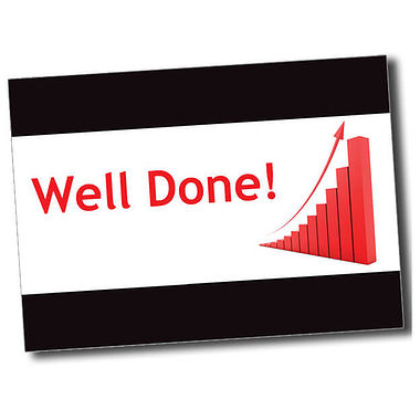 Personalised Well Done Postcard - Black (A6)