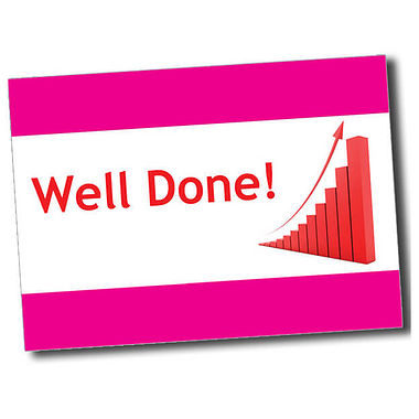 Personalised Well Done Postcard - Pink (A6)