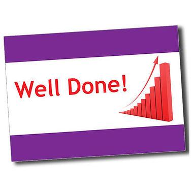 Personalised Well Done Postcard - Purple (A6)