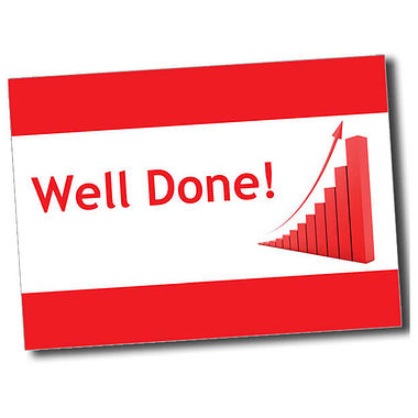Personalised Well Done Postcard - Red (A6)