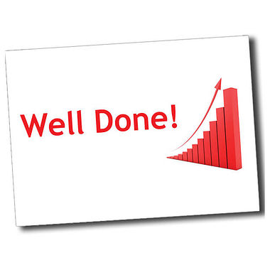 Personalised Well Done Postcard - White (A6)