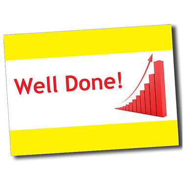 Personalised Well Done Postcard - Yellow (A6)