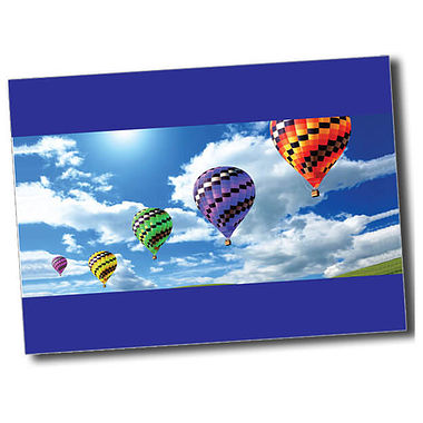Personalised Hot Air Balloon Postcard - Blue (A6)