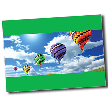 Personalised Hot Air Balloon Postcard - Green (A6)