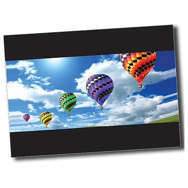 Personalised Hot Air Balloon Postcard - Black (A6)