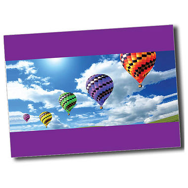 Personalised Hot Air Balloon Postcard - Purple (A6)