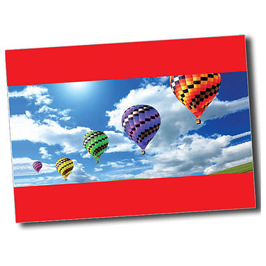 Personalised Hot Air Balloon Postcard - Red (A6)