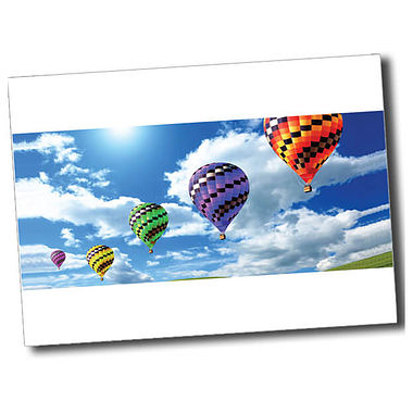 Personalised Hot Air Balloon Postcard - White (A6)