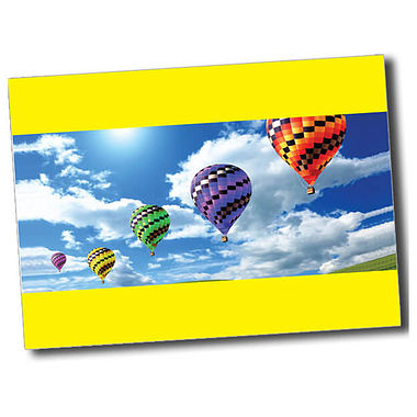 Personalised Hot Air Balloon Postcard - Yellow (A6)