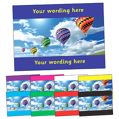 Personalised Hot Air Balloon Postcard (A6)