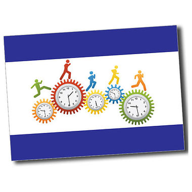 Personalised Clocks Postcard - Blue (A6)