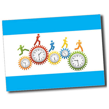 Personalised Clocks Postcard - Cyan (A6)