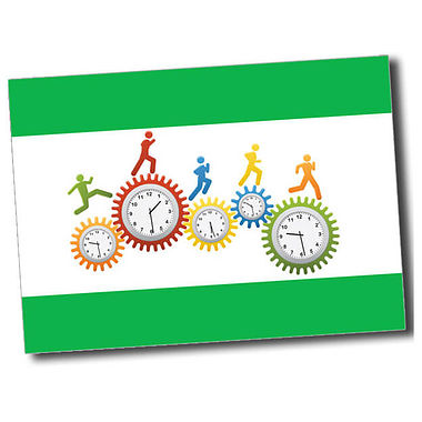 Personalised Clocks Postcard - Green (A6)
