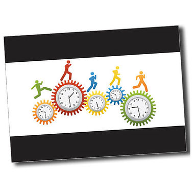 Personalised Clocks Postcard - Black (A6)