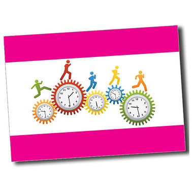 Personalised Clocks Postcard - Pink (A6)