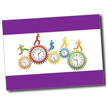 Personalised Clocks Postcard - Purple (A6)