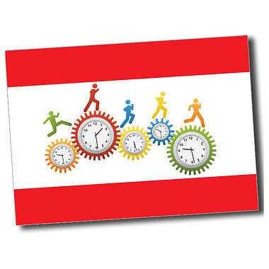 Personalised Clocks Postcard - Red (A6)