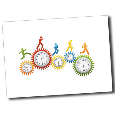 Personalised Clocks Postcard - White (A6)