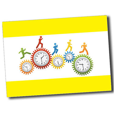 Personalised Clocks Postcard - Yellow (A6)