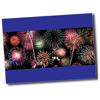 Personalised Fireworks Postcard - Blue (A6)
