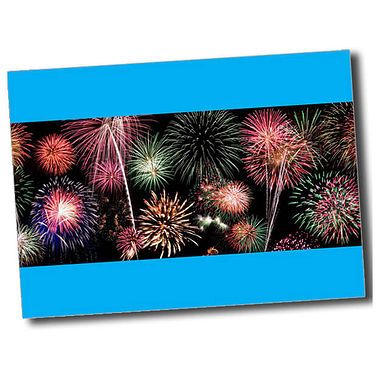 Personalised Fireworks Postcard - Cyan (A6)
