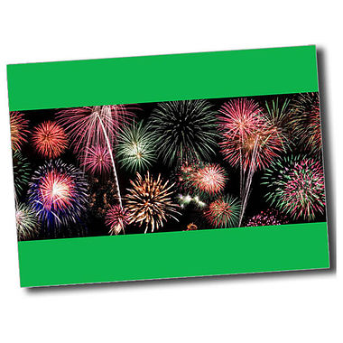 Personalised Fireworks Postcard - Green (A6)