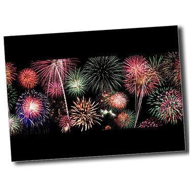 Personalised Fireworks Postcard - Black (A6)
