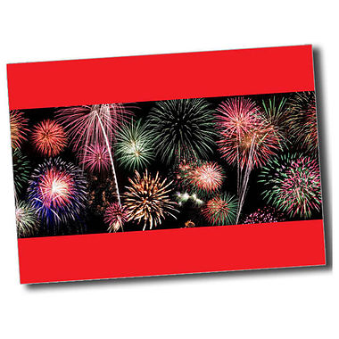Personalised Fireworks Postcard - Red (A6)