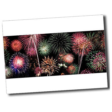 Personalised Fireworks Postcard - White (A6)