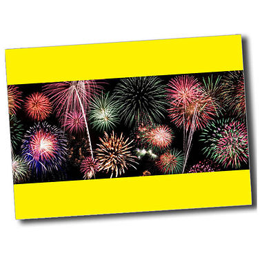 Personalised Fireworks Postcard - Yellow (A6)