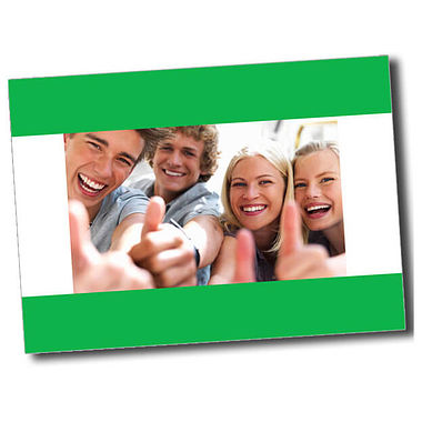 Personalised Thumbs Up Postcard - Green (A6)