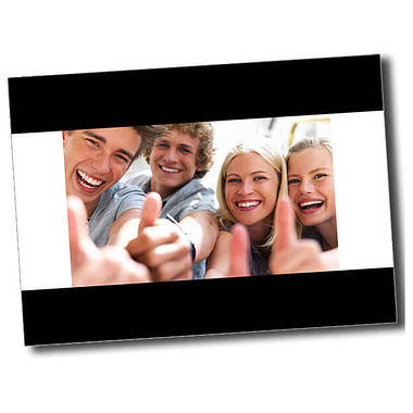 Personalised Thumbs Up Postcard - Black (A6)