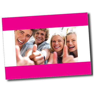 Personalised Thumbs Up Postcard - Pink (A6)